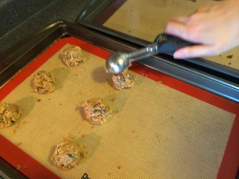 Wet dough - much easier to scoop