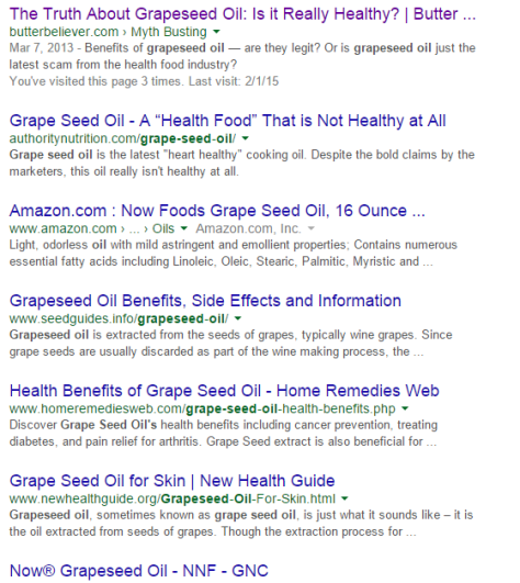 Print Screen Grapeseed Oil